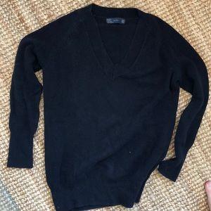 Zara Black v neck cotton sweater